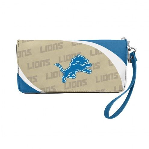 Detroit Lions Curve Zip Organizer Wallet