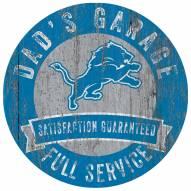 Detroit Lions Dad's Garage Sign