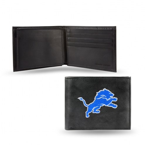 Detroit Lions Embroidered Leather Billfold Wallet