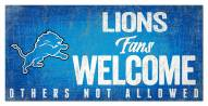 Detroit Lions Fans Welcome Sign