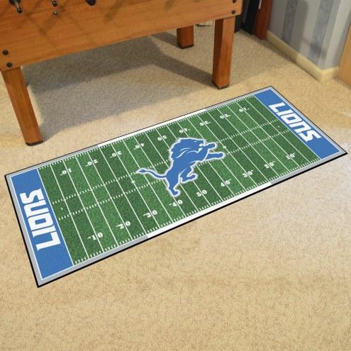 Detroit Lions Football Field Runner Rug