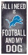 Detroit Lions Football & My Dog Sign