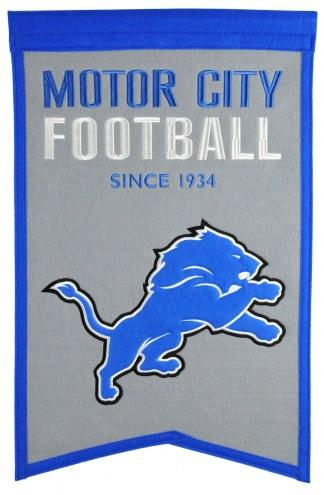 Detroit Lions Franchise Banner