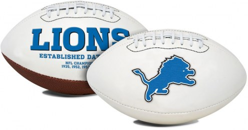 Detroit Lions Full Size Embroidered Signature Series Football