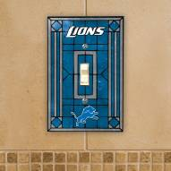 Detroit Lions Glass Single Light Switch Plate Cover