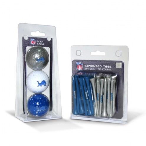 Detroit Lions Golf Ball & Tee Pack