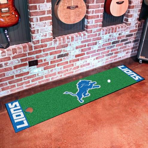 Detroit Lions Golf Putting Green Mat