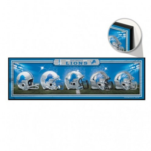 Detroit Lions Helmets Wood Sign