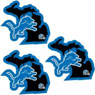 Detroit Lions Home State Decal - 3 Pack