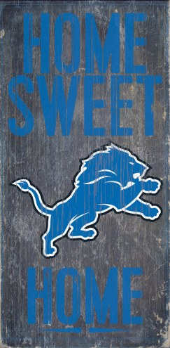 Detroit Lions Home Sweet Home Wood Sign