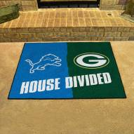 Detroit Lions/Green Bay Packers House Divided Mat