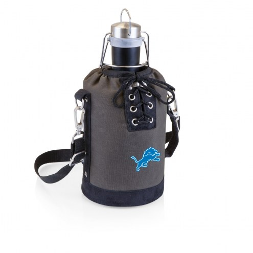 Detroit Lions Insulated Growler Tote with 64 oz. Stainless Steel Growler