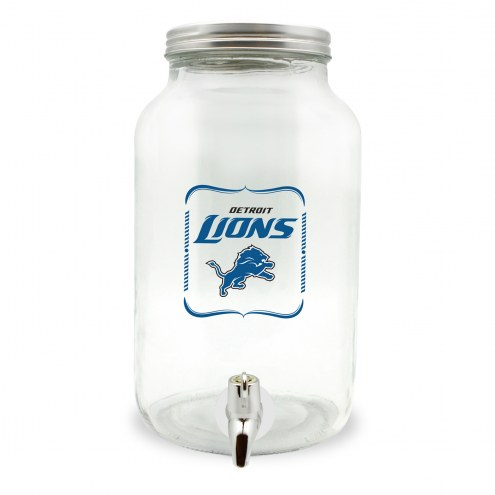 Detroit Lions Large Glass Sun Tea Jar