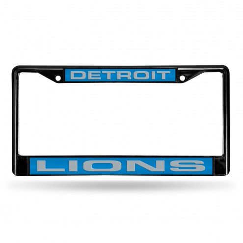 Detroit Lions Laser Black License Plate Frame