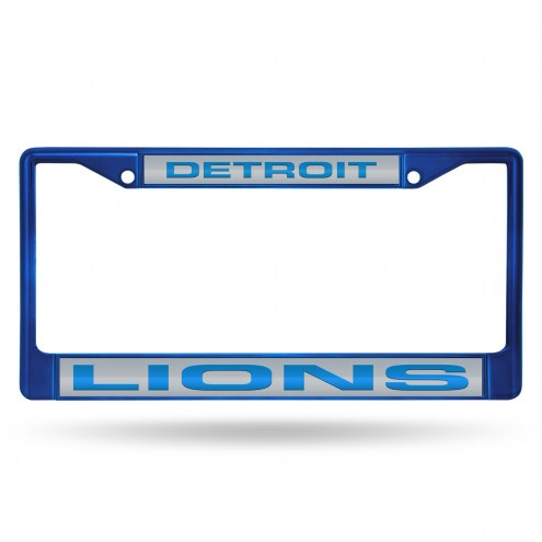 Detroit Lions Laser Colored Chrome License Plate Frame