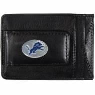 Detroit Lions Leather Cash & Cardholder