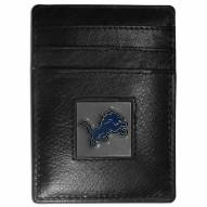 Detroit Lions Leather Money Clip/Cardholder in Gift Box