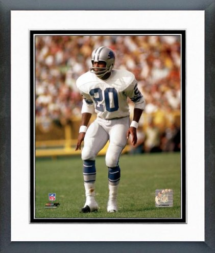 Detroit Lions Lem Barney Action Framed Photo