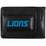 Detroit Lions Logo Leather Cash and Cardholder