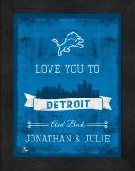 Detroit Lions Love You to and Back Framed Print