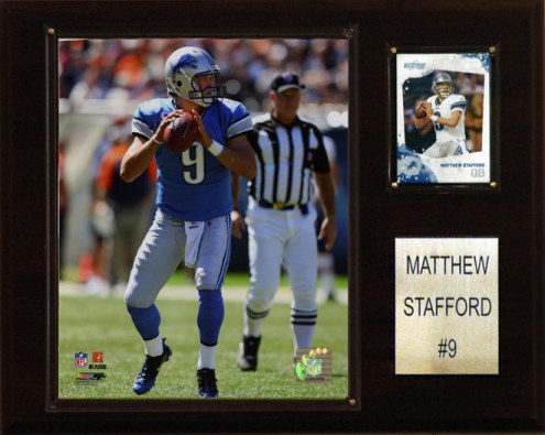 "Detroit Lions Matt Stafford 12 x 15"" Player Plaque"