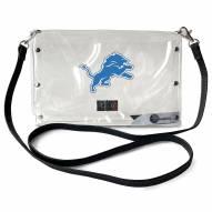 Detroit Lions Clear Envelope Purse