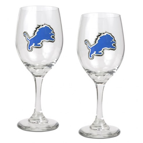Detroit Lions NFL Wine Glass - Set of 2