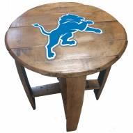 Detroit Lions Oak Barrel Table