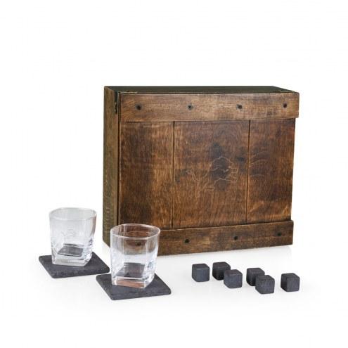 Detroit Lions Oak Whiskey Box Gift Set