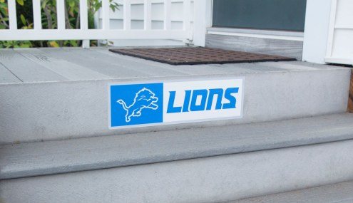 Detroit Lions Outdoor Step Graphic