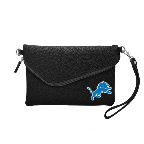 Detroit Lions Pebble Fold Over Purse