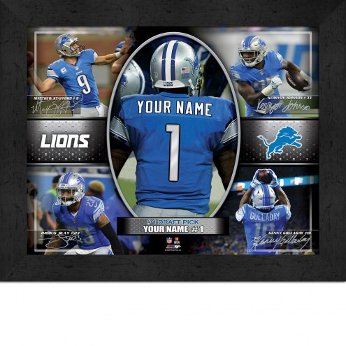 Detroit Lions Personalized 11 x 14 Framed Action Collage