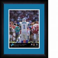 Detroit Lions Personalized 13 x 16 NFL Action QB Framed Print