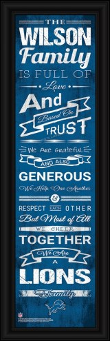 Detroit Lions Personalized Family Cheer Framed Art