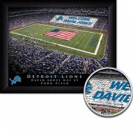 Detroit Lions 11 x 14 Personalized Framed Stadium Print