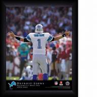 Detroit Lions Personalized 11 x 14 NFL Action QB Framed Print