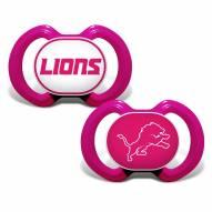 Detroit Lions Pink Pacifier 2-Pack