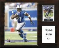 """Detroit Lions Reggie Bush 12"""" x 15"""" Player Plaque"""