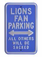 Detroit Lions Sacked Parking Sign