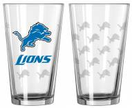 Detroit Lions Satin Etch Pint Glass - Set of 2