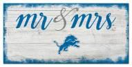 Detroit Lions Script Mr. & Mrs. Sign
