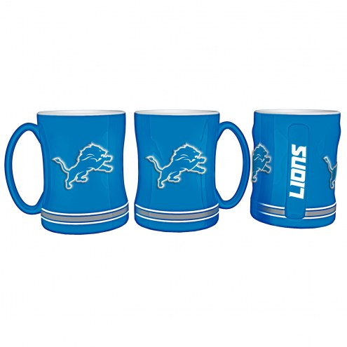 Detroit Lions Sculpted Relief Coffee Mug