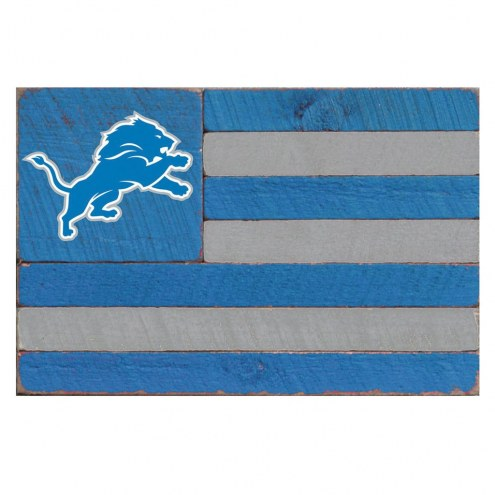 Detroit Lions Small Flag Wall Art