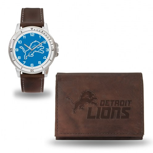 Detroit Lions Sparo Men's Niles Watch & Wallet Set