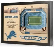 Detroit Lions 25-Layer StadiumViews 3D Wall Art