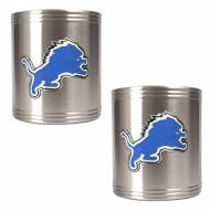 Detroit Lions Stainless Steel Can Coozie Set