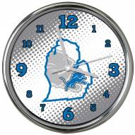 Detroit Lions State of Mind Chrome Clock