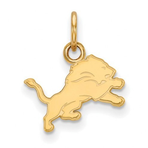 Detroit Lions Sterling Silver Gold Plated Extra Small Pendant