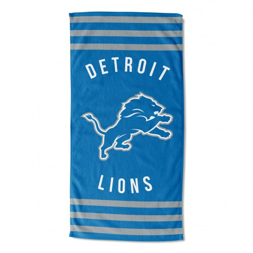 Detroit Lions Stripes Beach Towel