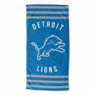 Detroit Lions Stripes Beach Towel